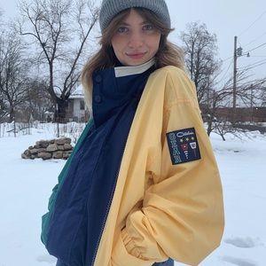 Vintage multi-colored unisex jacket